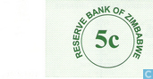 Billets de banque - Reserve Bank of Zimbabwe - Zimbabwe 5 Cents