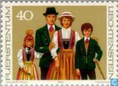 Postzegels - Liechtenstein - Klederdrachten