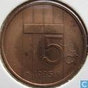 Monnaies - Pays-Bas - Pays-Bas 5 cents 1985