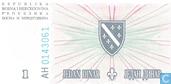Bankbiljetten - Narodna Banka Bosne i Hercegovina - Bosnië Herzegovina 1 Dinar