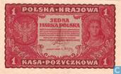 Banknotes - Poland - 1918-1924 Polish Marka Issue - Poland 1 Marka 1919