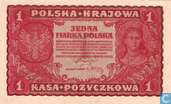 Bankbiljetten - Polska Krajowa Kasa Pozyczkowa - Polen 1 Marka