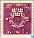Postage Stamps - Sweden [SWE] - 50 years Swedish shooters association