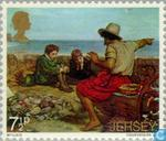 Postage Stamps - Jersey - Paintings