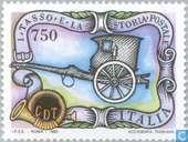 Postzegels - Italië [ITA] - Geschiedenis postvervoer