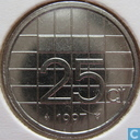 Coins - the Netherlands - Netherlands 25 cents 1997