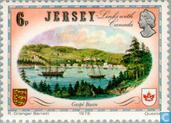 Postage Stamps - Jersey - Historical links with Canada