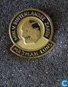 Speldjes, pins en buttons - Koopmans - Leeuwarden - Min. v. Buitenlandse Zaken Mr. J.M.A.H. Luns [zwart]