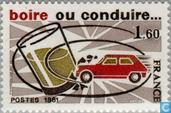 Postage Stamps - France [FRA] - Campaign against alcohol in traffic