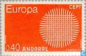Postage Stamps - Andorra - French - Europe – Braided Sun