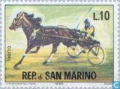 Postage Stamps - San Marino - equestrian