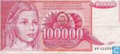 Billets de banque - Narodna Banka Jugoslavije - 100000 Dinara Yougoslavie