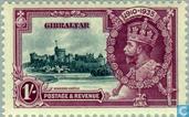 Postzegels - Gibraltar - Koning Geoge V- Regeringsjubileum 1910-1935