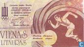 Banknotes - Sportgames 27 juli - 4 augustus 1991 - Lithuania 1 litauras