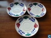 Gingham Platten für Suppentassen