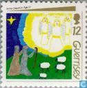 Postage Stamps - Guernsey - Children's paintings
