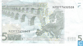 Banknotes - Eurozone - 2002 Dated 'Signature J.C. Trichet' Issue - Eurozone 5 Euro X-P-T