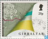 Postzegels - Gibraltar - Finish 'Whitbread' zeilrace
