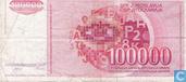 Bankbiljetten - Joegoslavië - 1985-1989 Issue - Joegoslavië 100.000 Dinara 1989
