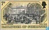 Postage Stamps - Guernsey - Old engravings