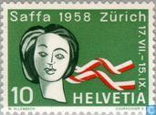 Postzegels - Zwitserland [CHE] - Tentoonstelling Saffa in Zürich