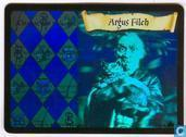 Trading cards - Harry Potter 4) Adventures at Hogwarts - Argus Filch