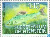 Postage Stamps - Liechtenstein - Fishing