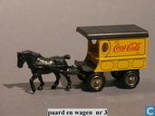 Modellautos - Lledo - Horse drawn Delivery Van 'Coca-Cola'