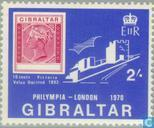 Postage Stamps - Gibraltar - Stamp Exhibition Philympia