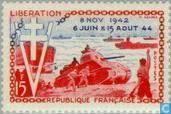 Postage Stamps - France [FRA] - Normandy Landing 10 years