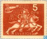 Postzegels - Zweden [SWE] - 50 jaar UPU