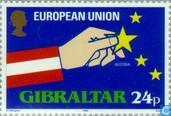 Postage Stamps - Gibraltar - EEC membership