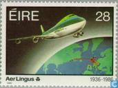 Postzegels - Ierland - Aer Lingus 50 jaar