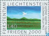 Postzegels - Liechtenstein - Vrede 2000