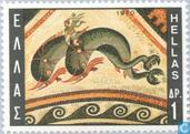 Postage Stamps - Greece - Mosaic Art