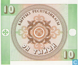 Banknoten  - Kyrgyz Republic - Kirgisistan 10 tyjyn