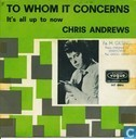 Disques vinyl et CD - Andrews, Chris - To Whom It Concerns