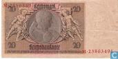 Billets de banque - Reichsbanknote - Allemagne 20 Reichsmark
