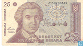 Billets de banque - Croatie - 1991-1993 Issue - Croatie 25 Dinara 1991