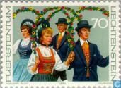 Postage Stamps - Liechtenstein - Costumes