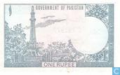 """Billets de banque - Pakistan - 1974-2001 ND """"1 Rupee"""" Issues - Pakistan 1 Rupee (P24Aa2) ND (1975-81)"""