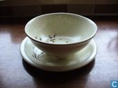 Keramik - Obsttest - Obstschale mit Weidenkätzchen