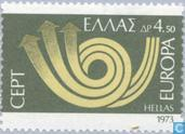 Postage Stamps - Greece - Europe – Post Horn