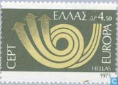 Postzegels - Griekenland - Europa – Posthoorn