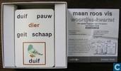 Board games - Happy Families - Maan Roos Vis  Woordjes Kwartet