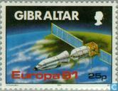 Postzegels - Gibraltar - Europa – Ruimtevaart