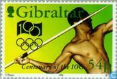 Postage Stamps - Gibraltar - 100 years of International Olympic Committee