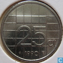 Coins - the Netherlands - Netherlands 25 cents 1990