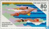 Postage Stamps - Berlin - Sports Help