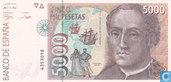 Espagne Pesetas 5000